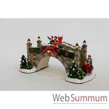 Décoration pont noël 31cm -MC 26110