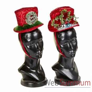 Lot de 2 chapeau de noël 23cm -Y 28213