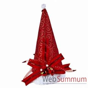 Chapeau de noël rouge 47,5cm -Y 28241