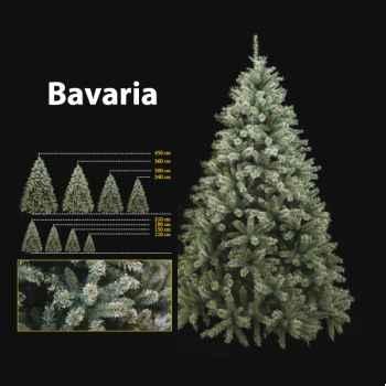 Sapin de Noël 450 cm Professionnel Bavaria Bleu Vert 2400 lumières