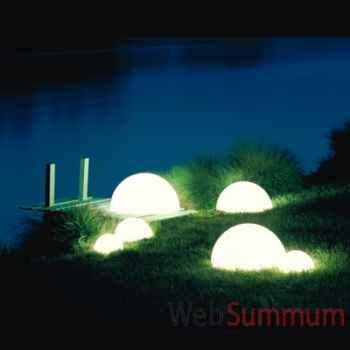 Lampe demi-lune gré socle à enfouir Moonlight -hmbgslgl7500501