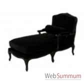 chaise longue black velvet 72x140xh100cm kingsbridge sc2000 59 12
