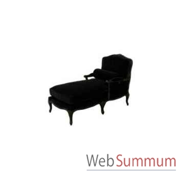 Chaise longue black velvet 72x140xh.100cm Kingsbridge -SC2000-59-12
