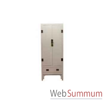 Cabinet chinois blanc 2 doors 100x65xh.210cm Kingsbridge -CA2000-01-11