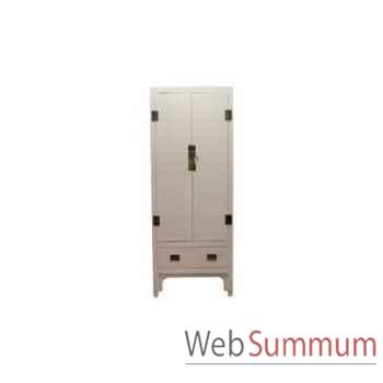 Cabinet chinois blanc 2 doors 100x65xh.210cm Kingsbridge -CA2000-01-11