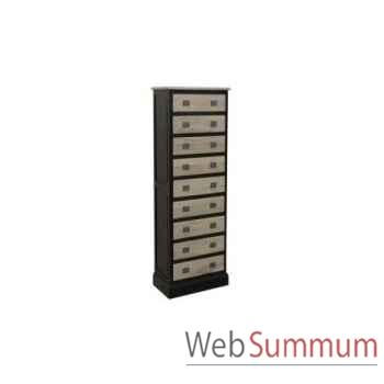 Cabinet 9 drawers 80x45xh.160cm Kingsbridge -CA2003-35-12
