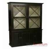 cabinet cross black 166x51xh240cm kingsbridge ca2005 31 63