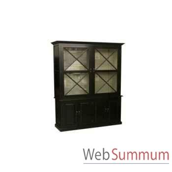 Cabinet cross black 166x51xh,240cm Kingsbridge -CA2005-31-63