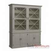 cabinet cross white 166x51xh240cm kingsbridge ca2005 30 63