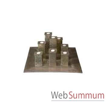 Plateau bougies farooq carré 22x22cm Kingsbridge -AC2001-87-52