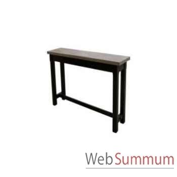 Console table mandalay black / oak 170x40xh.78 cm Kingsbridge -TA2003-98-12
