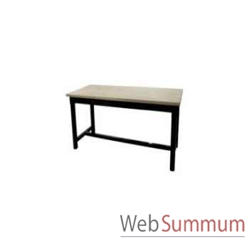 Table à dinner mandalay black rustic oak 200x90xh.78 cm Kingsbridge -TA2000-36-12