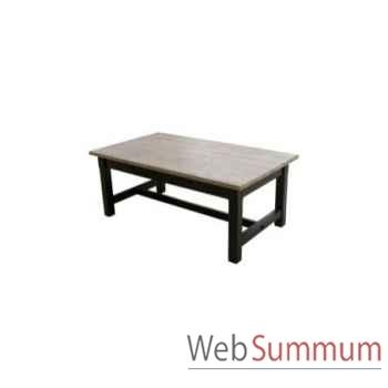 Table à dinner mandalay black rustic oak 220x90xh.78 Kingsbridge -TA2000-40-12
