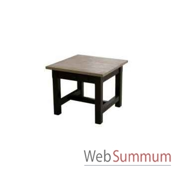 Table à café mandalay black / rustic oak 140x80x h.50 cm Kingsbridge -TA2002-30-12