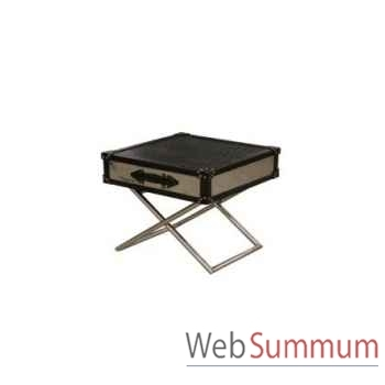Table à café black croco 122x72xh.47cm Kingsbridge -TA2004-58-74