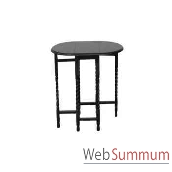 Table d'appoint bow 55x55xh.48cm Kingsbridge -TA2002-82-55