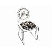 chaises safari zebra sofoz ch saf zebra