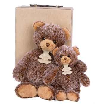 Peluche Teddy marron glacé petit modèle -ho1309