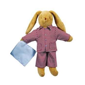 Lapin 34 cm - pyjama rayure + doudou  Trousselier 6580 97