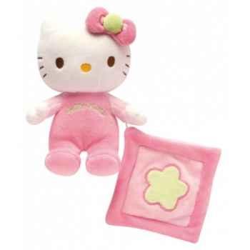 Peluche hochet avec mini doudou hello kitty Jemini -21675