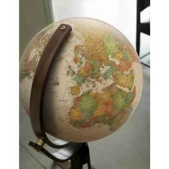 Globe Prestige Emily - modèle Marco Polo - Globe géographique lumineux -  Cartographie de type antique,  réactualisée - diam 50 cm - hauteur 106 cm