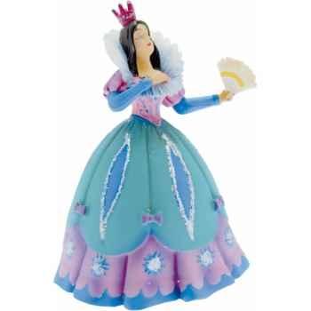 Figurine la princesse à l'éventail robe bleue -61360