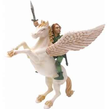 Figurine Pégase et l'elfe cavalier-61371