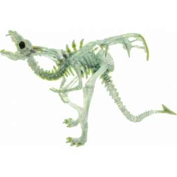 Collection les dragons figurine le dragon squelette translucide phosphorescent Figurine Plastoy 60226