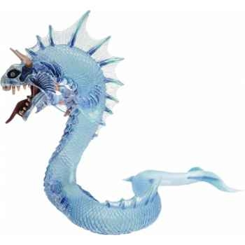 Collection les dragons figurine le grand dragon des mers translucide bleu Figurine Plastoy 60231