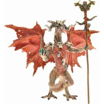 Collection les dragons figurine le dragon sorcier rouge Figurine Plastoy 60228