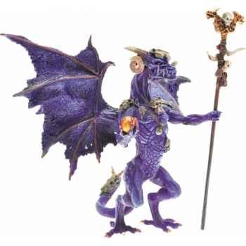 Collection les dragons figurine le dragon sorcier violet Figurine Plastoy 60229