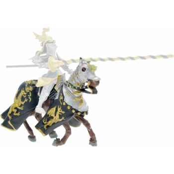 Collection les dragons cheval aux dragons, noir et or figurine sans chevalet Figurine Plastoy 62030
