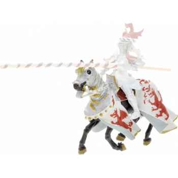 Collection les dragons cheval aux dragons, blanc et rouge figurine sans chevalet Figurine Plastoy 62031