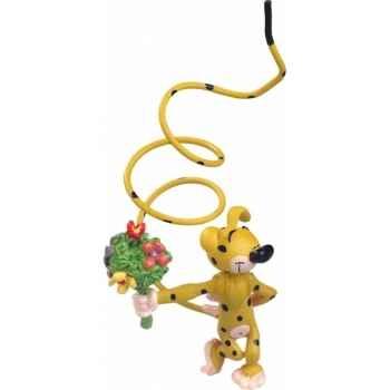 Figurine marsupilami bouquet de fleurs  Plastoy 65032