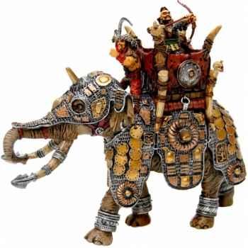 Figurine l'éléphant de guerre (+ 2 figurine )  Plastoy 59007