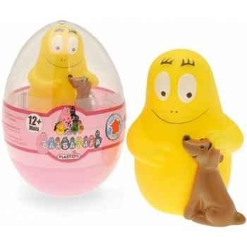 Figurine oeuf barbidou et son chien vrac  Plastoy 65610