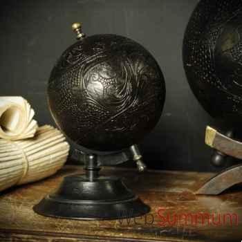 Globe cuir pm Objet de Curiosité -DA136