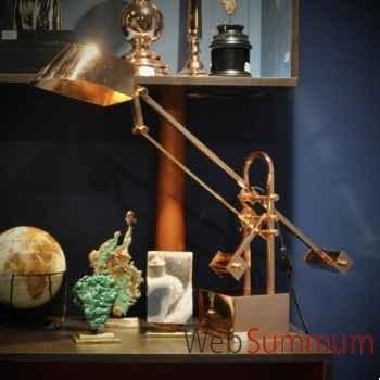 Lampe à poser cuivre Objet de Curiosité -LU134