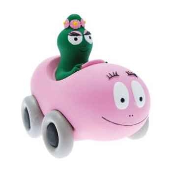 Collection vroum vroum les barbamobiles en coffret barbapapa voiture et barbalala Figurine Plastoy 80600