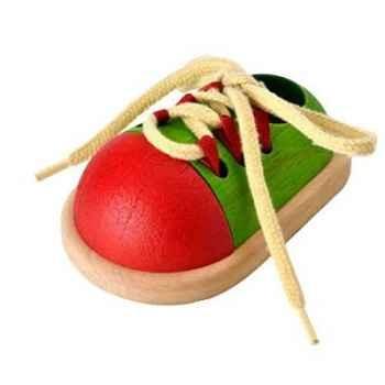 Chaussure à lacer jouet en bois plantoys 5319
