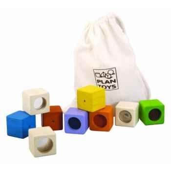 Blocs sensoriels jouet en bois plantoys 5531