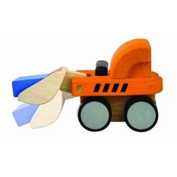 Bulldozer 18 cm jouet en bois plantoys 6317