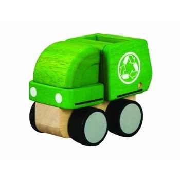 Camion de recyclage 18 cm jouet en bois plantoys 6319
