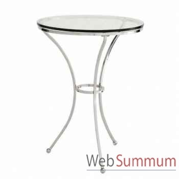Eichholtz table bistro paris nickel et verre -tbl06348