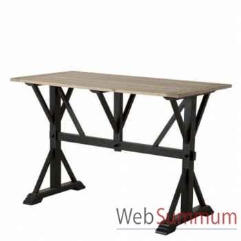 Eichholtz table bar royal plateau rustique et pieds noirs -tbl06441