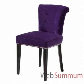 Eichholtz chaise key largo violet et pieds noir -chr06046