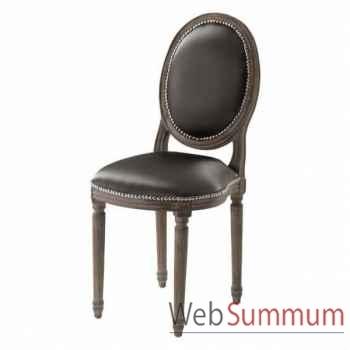 Eichholtz chaise baroque gris -chr06424