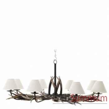 Eichholtz chandelier lodge 8 lumières  -lig06090