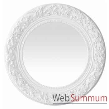Eichholtz miroir rococo round blanc brillant -mir06433