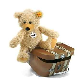 Peluche steiff ours teddy-pantin charly dans sa valise -012938